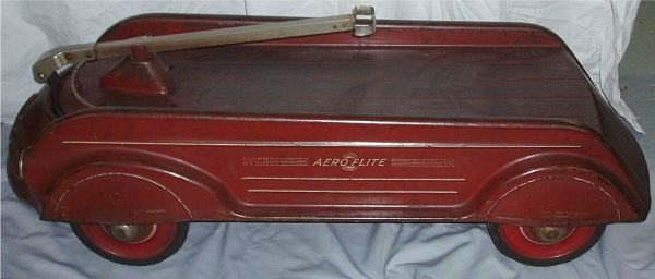 1012: 1930's Art Deco Pressed Steel Aero Flite Wagon