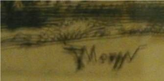 1060B: Peter Moran Western Etching, Etched Signature o - 3