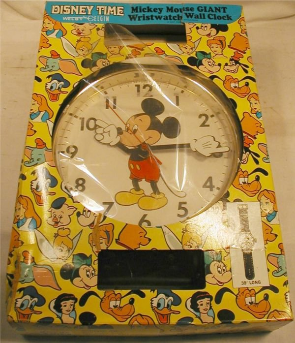 3011: Disney Mickey Mouse Wall Wristwatch Clock with Or