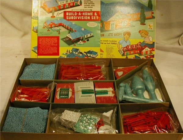 3081: 1962 Kenner Girder and Panel Build A Home Set #14 - 2