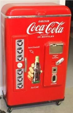 5015: Plastic Coca Cola Ice Chest, 37H x 12 D x 21W