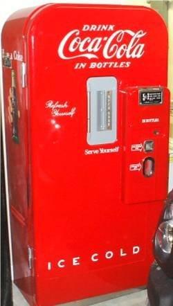 5200: Coca Cola Bottle Machine Model V39 by Vendo, 1947