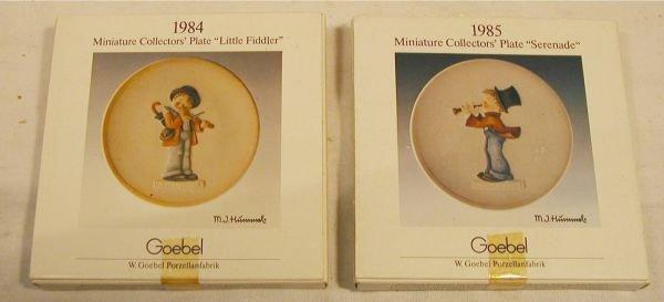 5002: Hummel Miniature Collector Plates, 1984 Little Fi