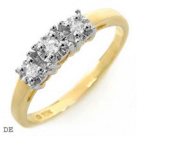 5012: Band with genuine diamonds 3/0.10ctw