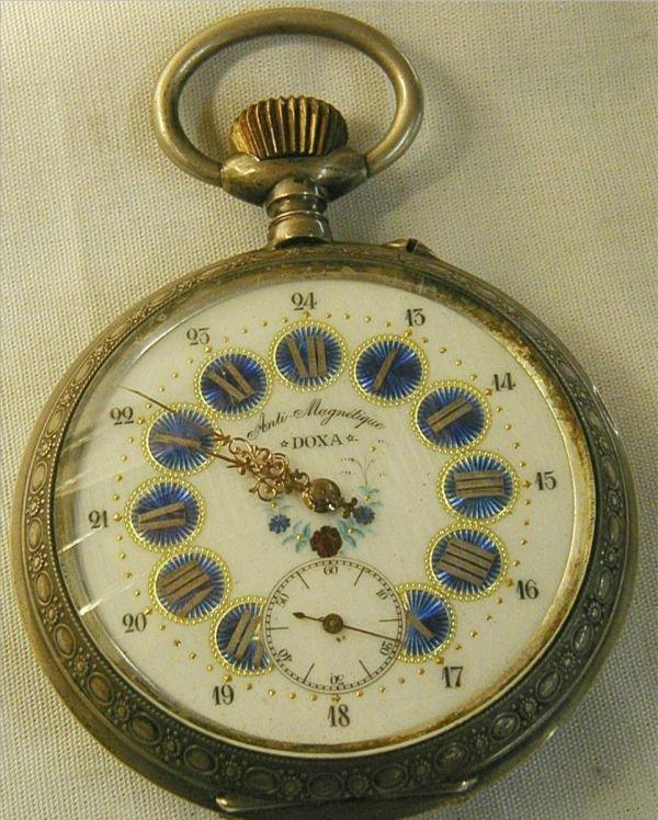 "5121: Anti-Magnetique Doxa Railroad Watch, 4 1/4"" Dia,"