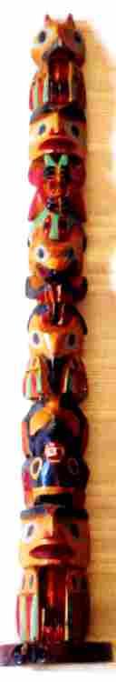 "British Columbia Indians 14"" High Totem Pole"