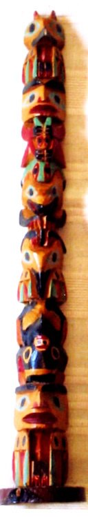"1005: British Columbia Indians 14"" High Totem Pole"