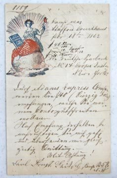 1022: Civil War Soldier's Letter w/Patriot Motiff