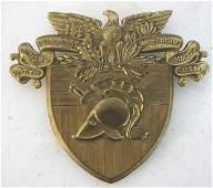 1091: US MIlitary Academy Shako Plate, 1870-1900's