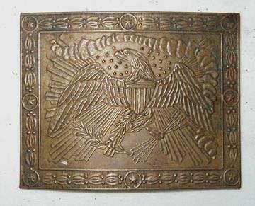 1131: Ca. 1810-20 Belt Plate, Brass ( In Smithsonian Bo