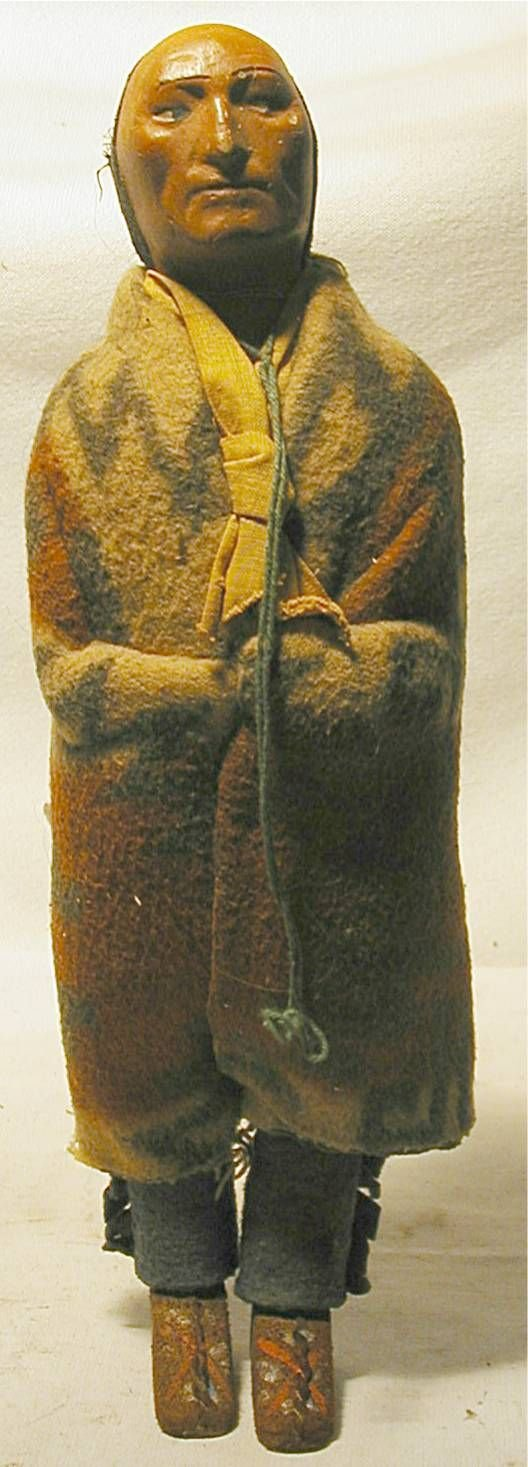 """1001: 12"""" High Left Looking Skookum Doll with Leather"""