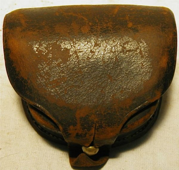 1018: Civil War Cap Box, Marked New York with Pick and