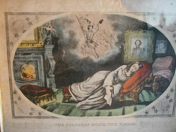 3007: Civil War Period Currier & Ives In Original Frame