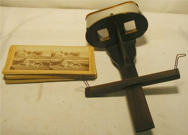 3017: Stereoscope with handle and Eleven Cards, Excelle