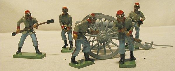 3005: Britain Confederate Artillary Six Piece Set, Exce