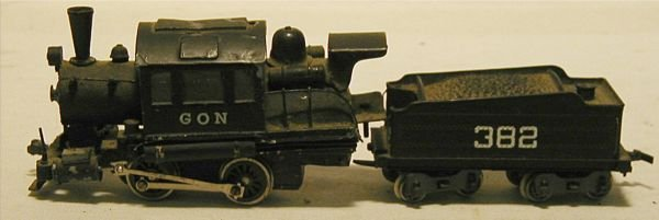 """3003: GON Engine and Coal Car, Made in Japan, 7"""" Long"""