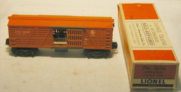 3015: Lionel Operating Cattle Car 1951- IV with Box