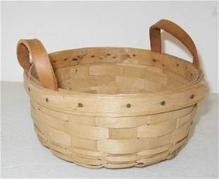 Longaberger 1983 Unstained Button Basket