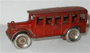 AC Williams Red Bus 4 7/8 Inches Long