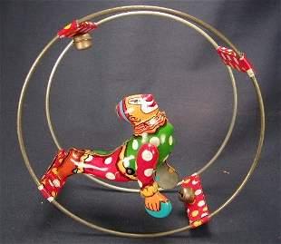 Linemar - Japan Tin Litho Clown in Ring