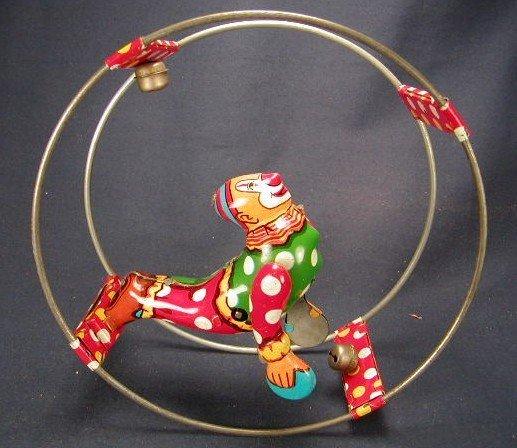 2013: Linemar - Japan Tin Litho Clown in Ring