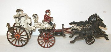 2023: Early Three Horse Cast Iron Fire Pumper