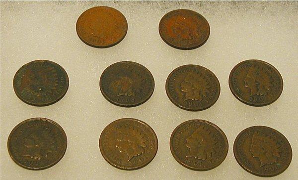 1002: Frame of Ten Indian Head Pennies