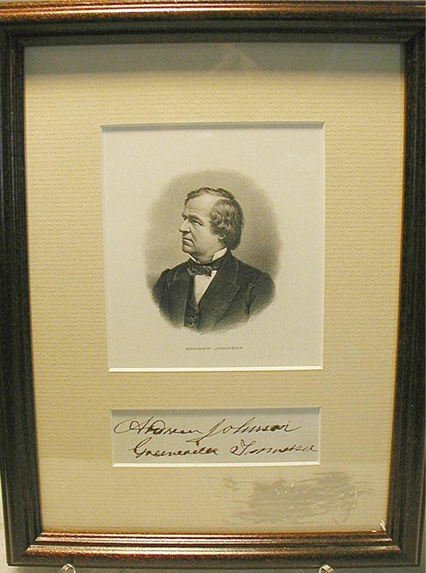 1005: President Andrew Johnson, CW Military Govenor of