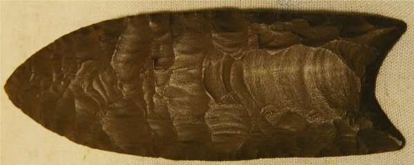 1011: 4 Inch Fluted Spear Petrified Wood, Montana