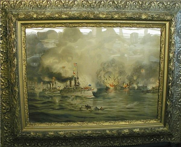 1012: 40 1/2 x 32 3/4 The Battle Of Manila, May 1st. 18