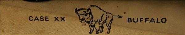1126: Case Folding Knife XX with Buffalo Graving, P172, - 3