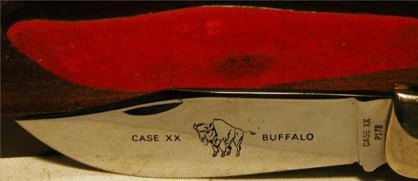1126: Case Folding Knife XX with Buffalo Graving, P172, - 4