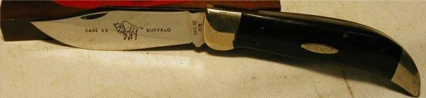 1126: Case Folding Knife XX with Buffalo Graving, P172, - 5