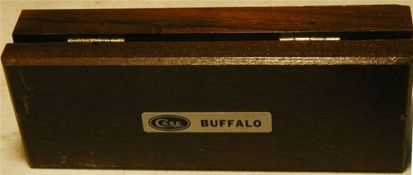 1126: Case Folding Knife XX with Buffalo Graving, P172, - 6