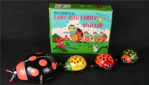 """2022: TPS Lady Bug Family Parade with Box, 12"""" Long, N"""