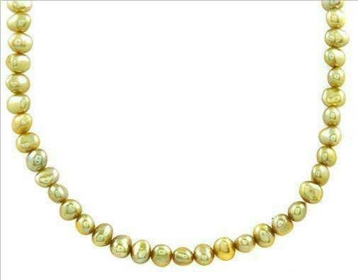 2019: Stylish Necklace With 6mm Freshwater Pearls .