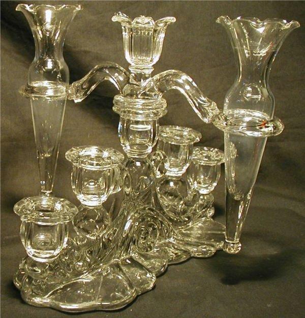 2023: Cambridge Waverly Candlestick Holder with Two Vas