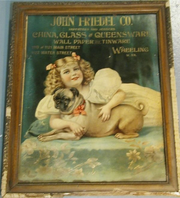3116: John Friedel Company Advertising Poster 1800's,