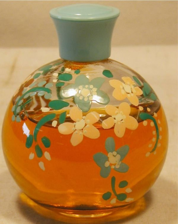 4006: Hand Painted Floral Perfume Bottle, Excellent Con