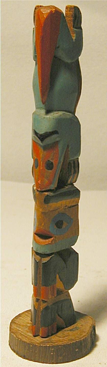 """5014: Alaskan Totum Pole, 6 3/4"""" x 1""""W"""