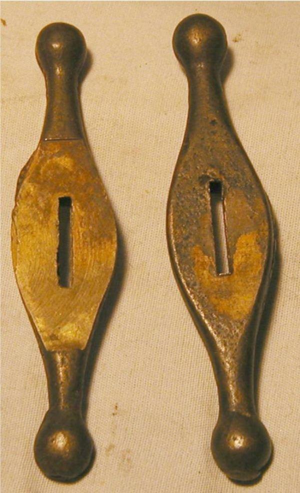 5016: Two Vintage Bowie Knife Guards 4 1/4L x 1W