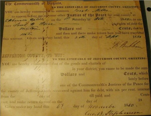 5005C: Document Signed by Harper's Ferry Participants,