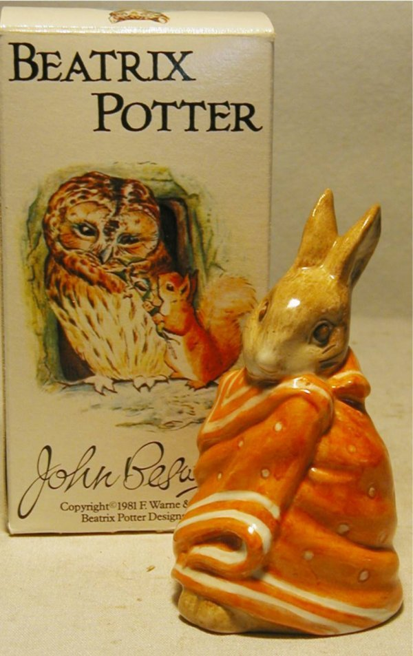 1002: Beswick Beatrix Potter Poor Petter Rabbit with Bo