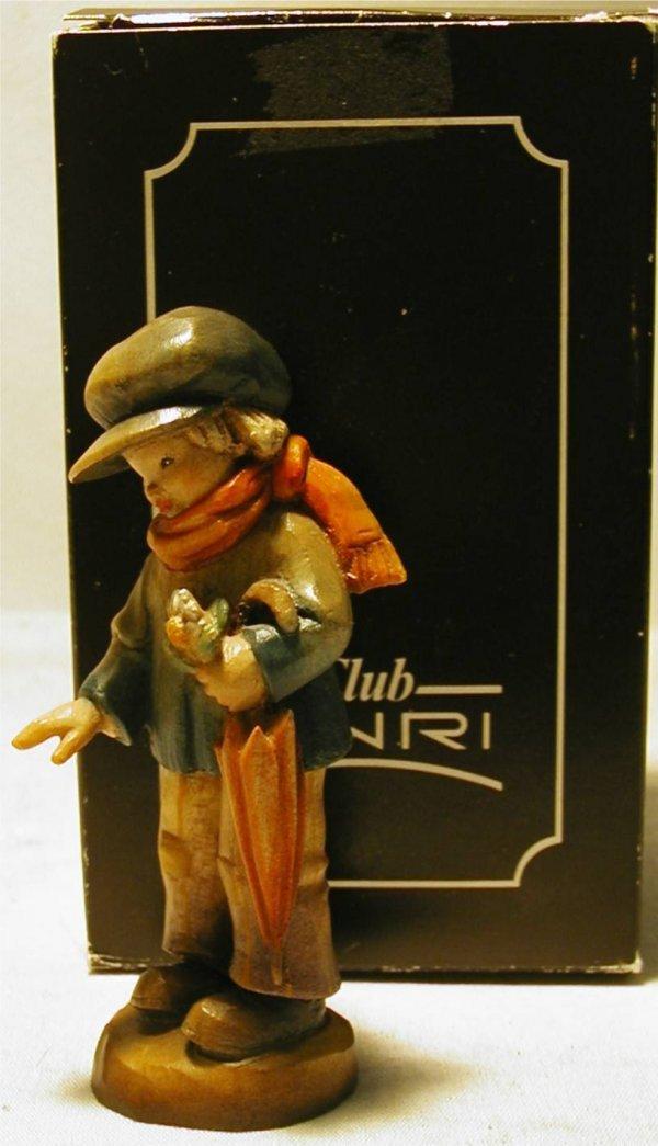 1004: Anri Ferrandiz 1984 Boy with Scarf and Umbrella,