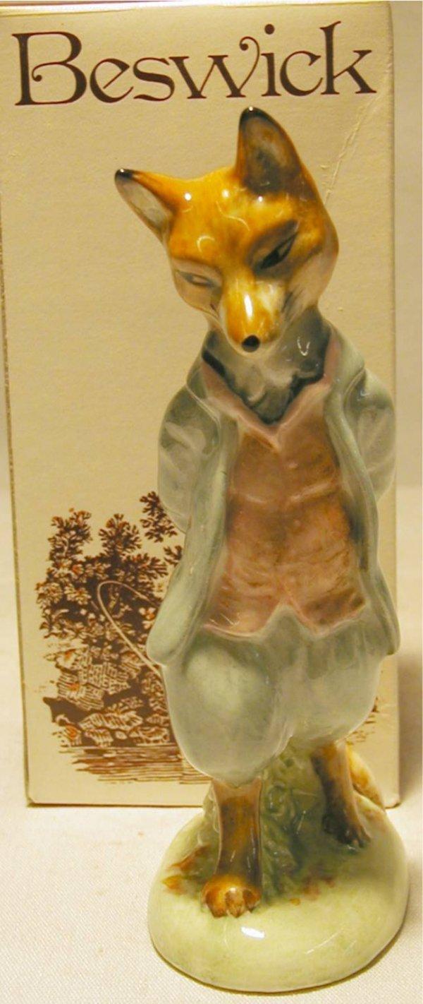 1009: Beswick Beatrix Potter Foxy Wiskered Gentleman wi