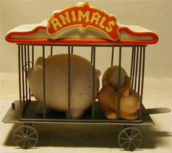 1013: Bumpkins Wild Animal Cage RR Car, No.334-04 6L x