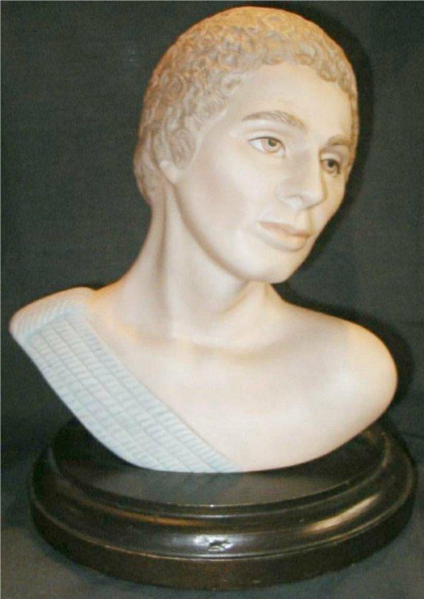 1015: Goebel Bust of John, Artist Signed Helen Granger