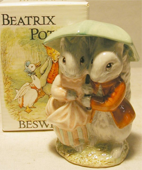 1019: Beswick Beatrix Potter Goody & Timmy Tiptoes with