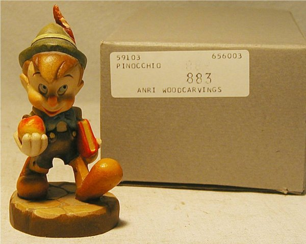 1074: Anri 1988 Disney Pinocchio #270 with Box, MIB, 4