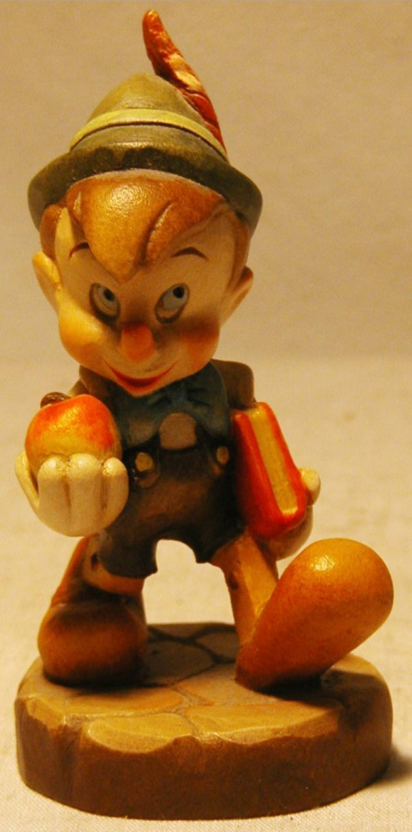 1074: Anri 1988 Disney Pinocchio #270 with Box, MIB, 4  - 2